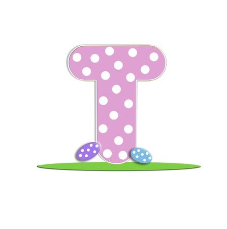 quot: T in the alphabet &quot,Easter Eggs&quot, Stock Photo