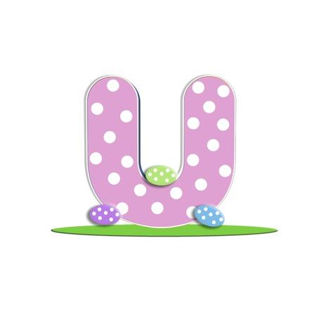quot: U in the alphabet &quot,Easter Eggs&quot,  Stock Photo