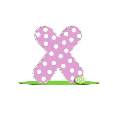 quot: X in the alphabet &quot,Easter Eggs&quot, Stock Photo