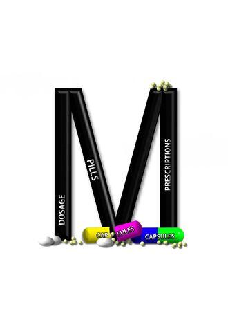 open type font: M, in the alphabet set &quot,Healing&quot,
