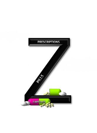 open type font: Z, in the alphabet set &quot,Healing&quot,