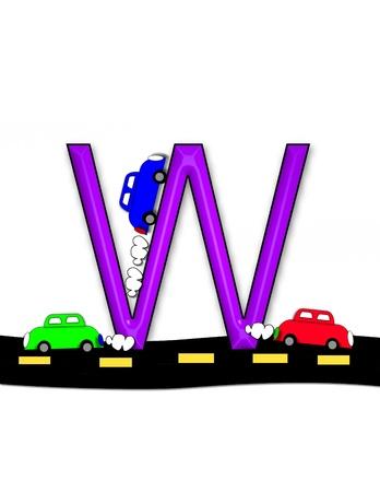 quot: W, in the alphabet set &quot,Highway&quot,