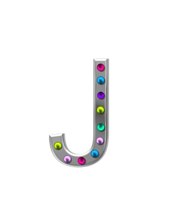 The letter J, in the alphabet set