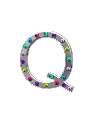 The letter Q, in the alphabet set
