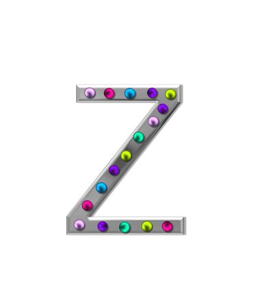 The letter Z, in the alphabet set
