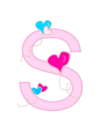 The letter S, in the alphabet set  Heart of Valentine
