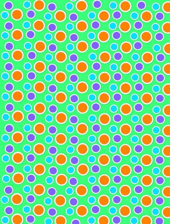 Background image is filled with two layered circles and dots.  White border encircles each polka dot.  Polka dots fill green background. Stock Photo - 17120717