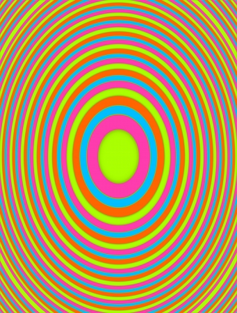 descending: Circles, in rainbow colors, decend into color oblivion in this graphic image of diminishing circles.