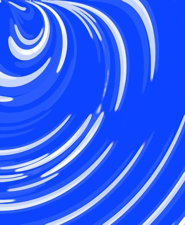 disappear: Soft focused light rays circle and disappear into blue vortex