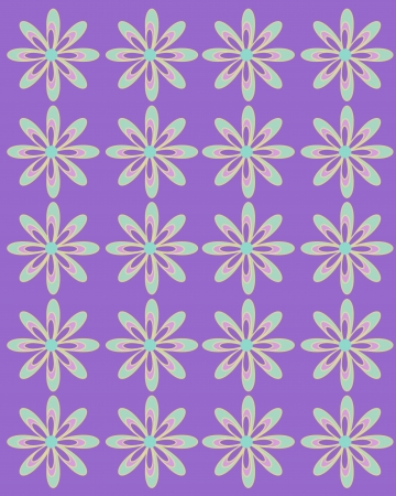 Purple tint serves as background for daisies lined up in rows.  Flowers are large with coordinating layers of petals. Zdjęcie Seryjne - 19463618