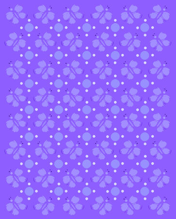 compliments: Rows of butterflies and circles fill image   Basic imprint of butterfly compliments monochromatic image in purples