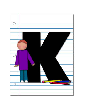 The letter K  photo