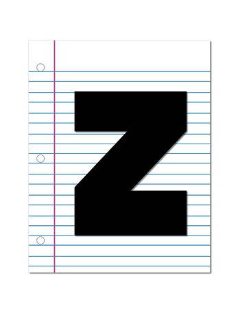 The letter Z  Stock fotó
