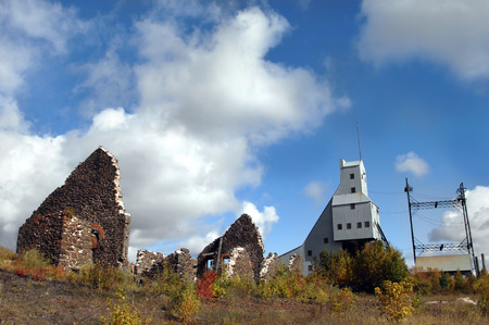 Ruins of Copper Mine Boiler House and Shaft Rock House are relics of the Quincy Copper Mine in the Keweenaw National Historical Park.