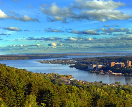 portage: Quincy Hill overlook has panorama of Portage Lake, Michigan Tech, Houghton, Lake Superior and the Keweenaw Peninsula.