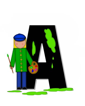 The letter A, in the alphabet set
