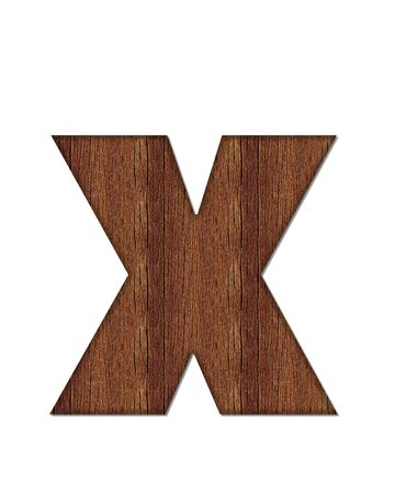 grain: The letter X, in the alphabet set Wood Grain resembles paneling or finished wood grain.