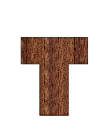 wood grain: The letter T, in the alphabet set Wood Grain resembles paneling or finished wood grain.