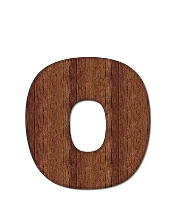 wood grain: The letter O, in the alphabet set Wood Grain resembles paneling or finished wood grain.