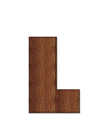 The letter L, in the alphabet set Wood Grain resembles paneling or finished wood grain.