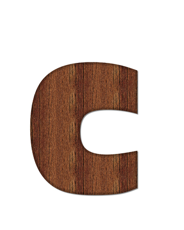 wood grain: The letter C, in the alphabet set Wood Grain resembles paneling or finished wood grain. Stock Photo