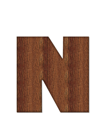 wood grain: The letter N, in the alphabet set Wood Grain resembles paneling or finished wood grain.