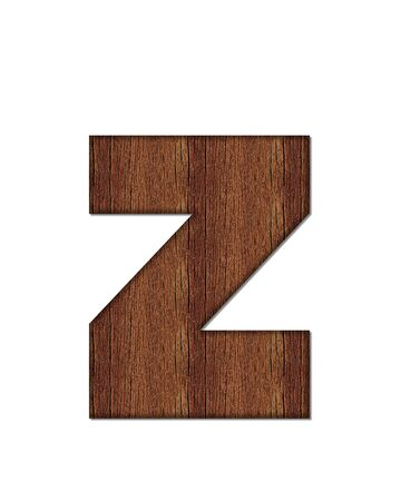 wood grain: The letter Z, in the alphabet set Wood Grain resembles paneling or finished wood grain.
