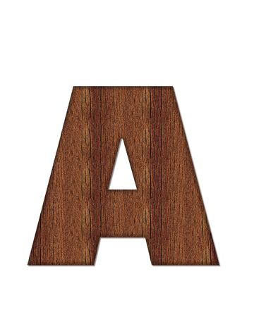 finished: The letter A, in the alphabet set Wood Grain resembles paneling or finished wood grain.