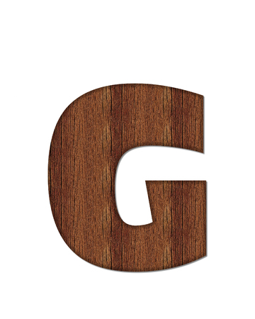The letter G, in the alphabet set Wood Grain resembles paneling or finished wood grain.
