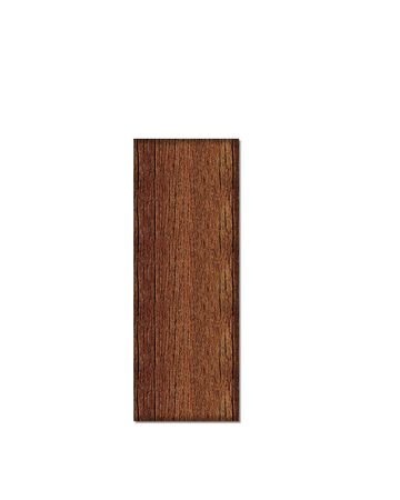 wood grain: The letter I, in the alphabet set Wood Grain resembles paneling or finished wood grain. Stock Photo