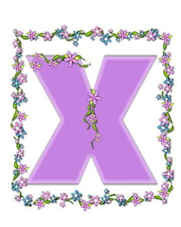 The letter X, in the alphabet set