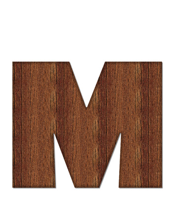 The letter M, in the alphabet set Wood Grain resembles paneling or finished wood grain. Stock fotó