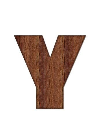 wood grain: The letter Y, in the alphabet set Wood Grain resembles paneling or finished wood grain. Stock Photo