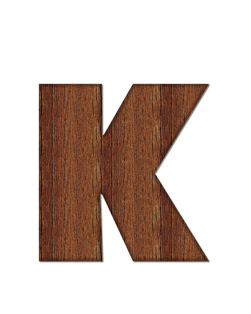 The letter K, in the alphabet set Wood Grain resembles paneling or finished wood grain.