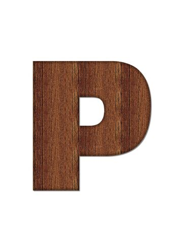 wood grain: The letter P, in the alphabet set Wood Grain resembles paneling or finished wood grain.