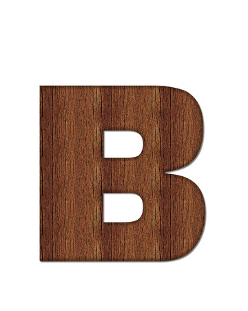 wood grain: The letter B, in the alphabet set Wood Grain resembles paneling or finished wood grain.