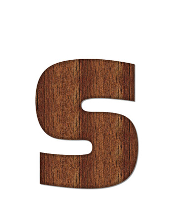 The letter S, in the alphabet set Wood Grain resembles paneling or finished wood grain.