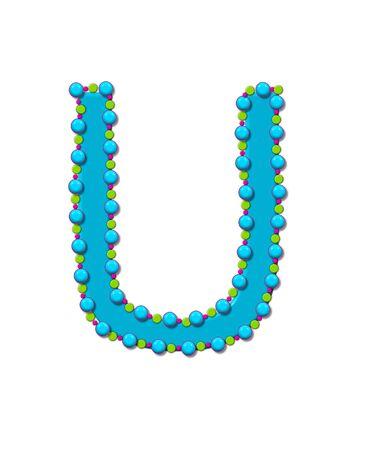 Buchstabe J Aus Bead Alphabet Ist Helle Türkis In Der Farbe ...