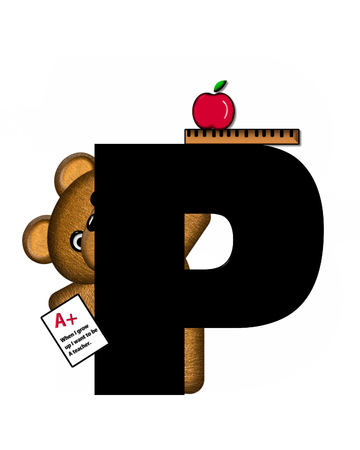 The letter P, in the alphabet set