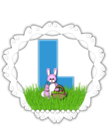 The Letter K In The Alphabet Set Easter Bunny Field Is Turquoise