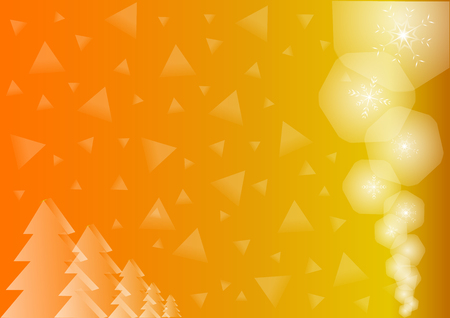 festiveness: Golden Background With sparkles and triangles and spruce