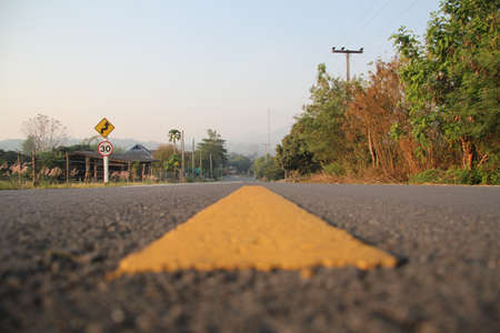 Road in lamphun, Thailand