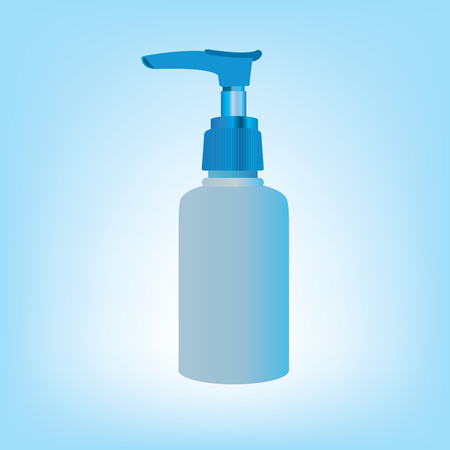 Gel, Foam Or Liquid Soap Dispenser Pump Plastic Bottle Blue