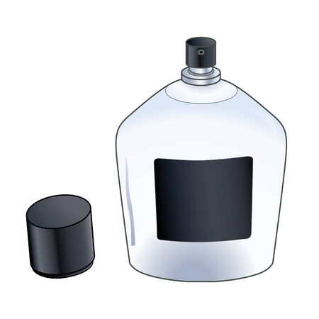 The vector image of a bottle with cologne spray isolated on a background