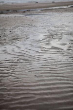 A sand waves on the beach Banco de Imagens