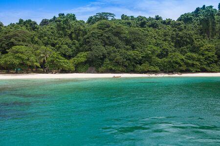 Calm ocean and nature island
