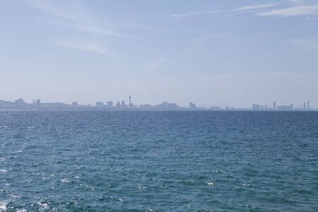 views of the city from the sea