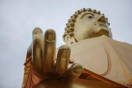 Close up the Buddha hand Banco de Imagens