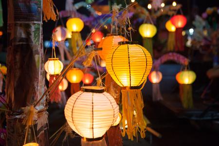 Paper lanterns at the festival Banco de Imagens
