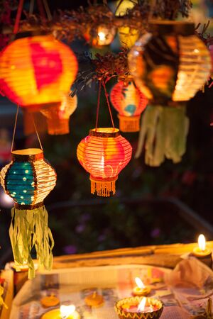 Paper lanterns at the festival Banco de Imagens - 83848767